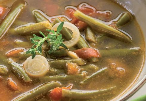 Бърза супа от зелен фасул