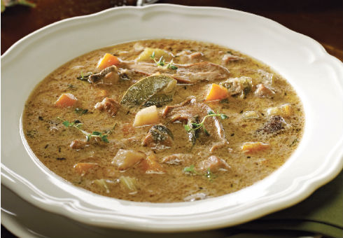 Супа с естрагон от глиганско месо