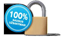 100 % saugus užsakymas