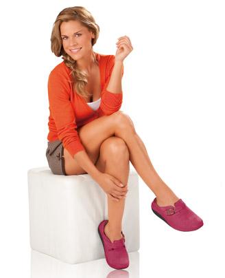 Walkmaxx Comfort kožne papuče